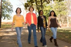 Women Strolling